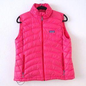 Patagonia Pink Goose Down Puffer Puff Vest sz L